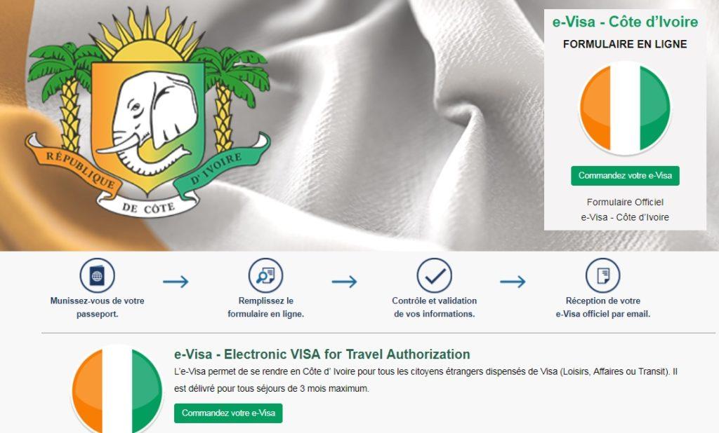 e-visa Côte d'Ivoire