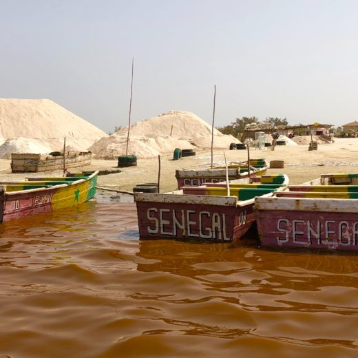 Pirogues lac rose Sénégal