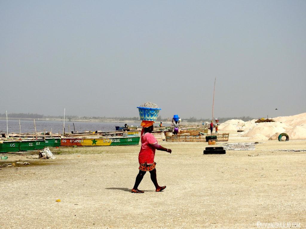 Femmes du lac rose Sénégal