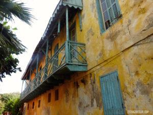 Maison coloniale jaune Gorée