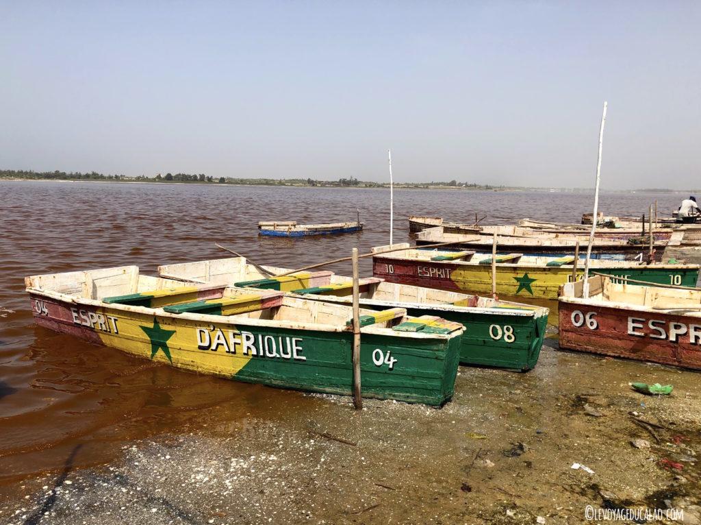 Pirogues du lac rose Sénégal