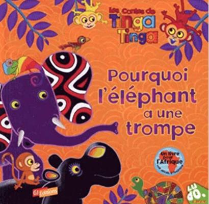 Livre Afrique Tinga Tinga éléphant