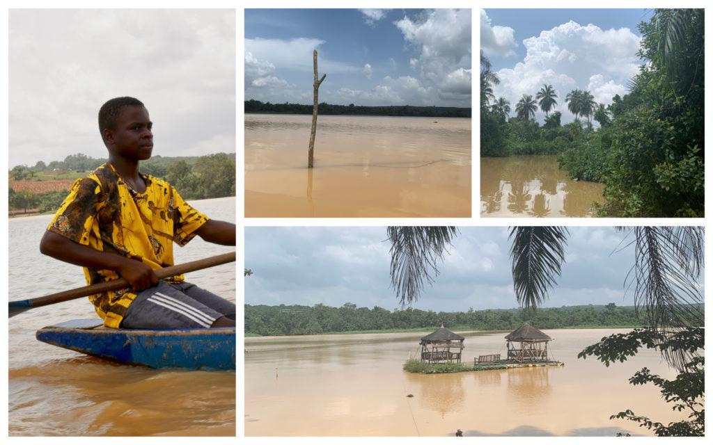 Abidjan Bini Lagune pirogue
